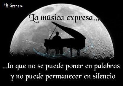 La música es un arte y el que disfruta con ella un don