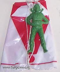 Paracaidista de 5 pesetas