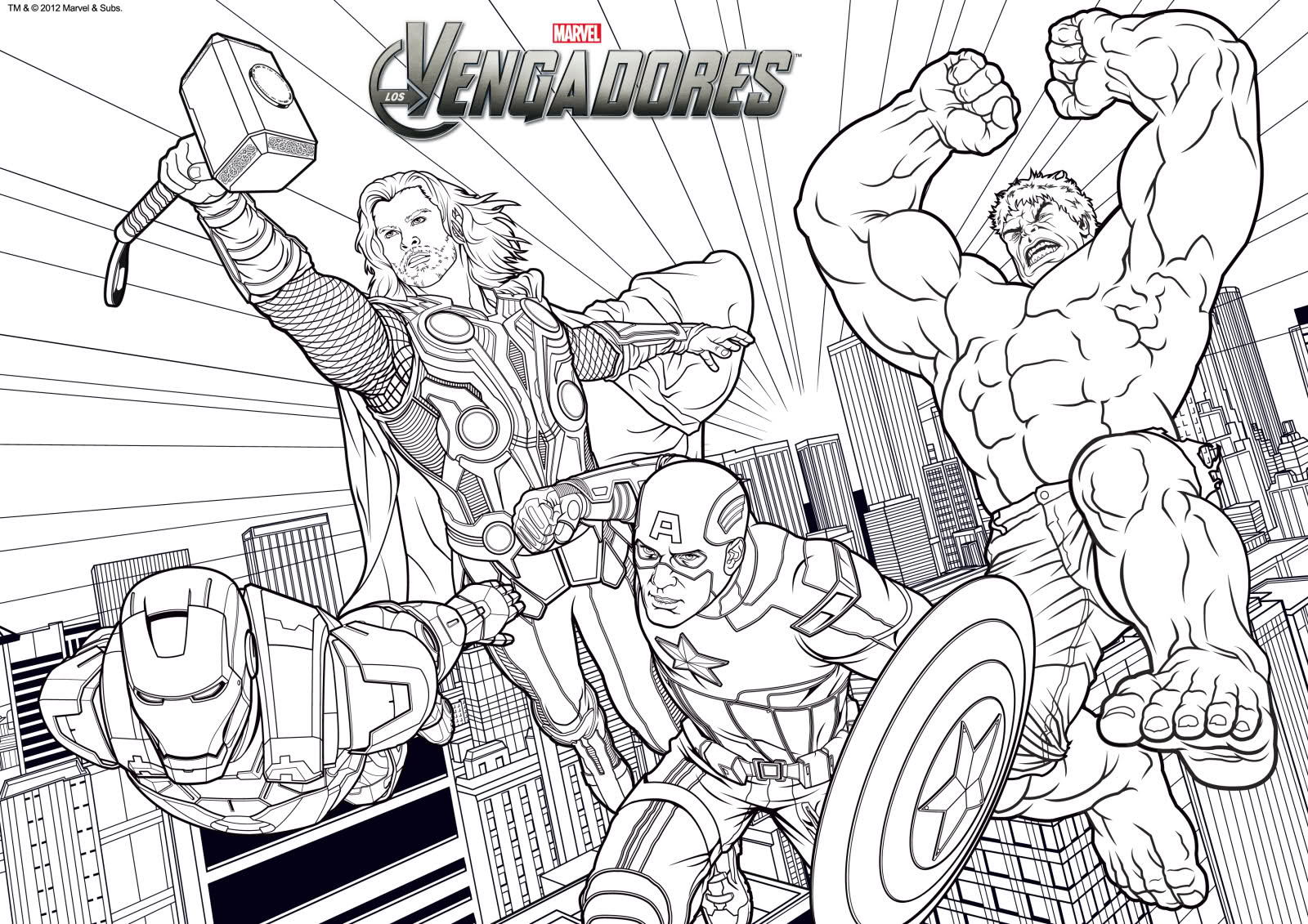 Dibujos Para Colorear Avengers 2 - Get Yasabe