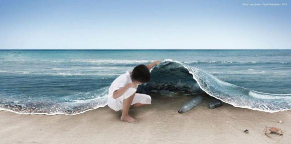 El mar está sucio
