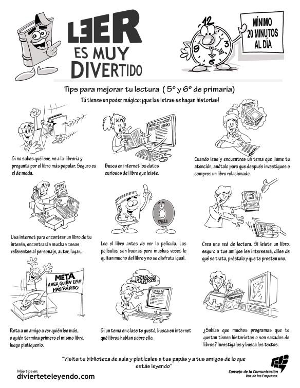 cAMPAÑA DE FOMENTO DE LA LECTURA PARA ALUMNADO DE 5°y6°