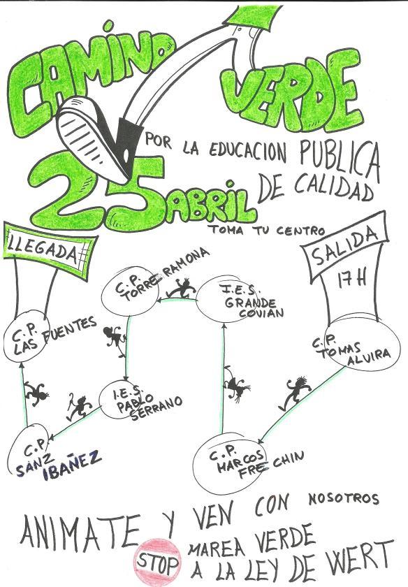 Dibujo Camino Verde 25 abril