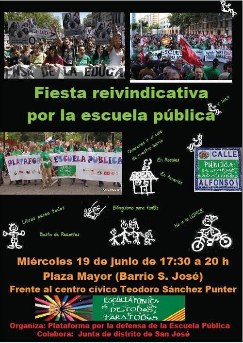 cartel-fiesta escuela pública