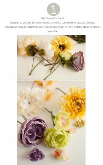 DIY: portavelas + flores