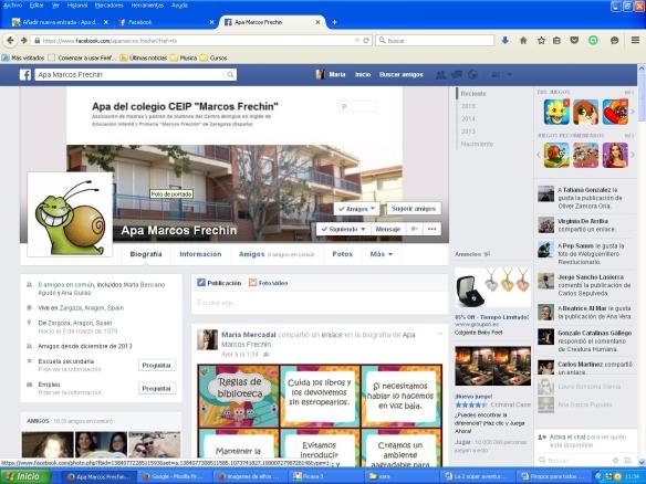 Página de Facebook Apa Marcos Frechin
